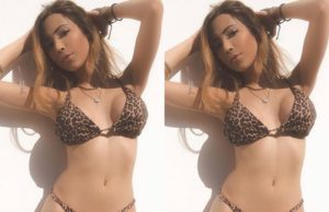 sakshi chopra in tiger printed bikini