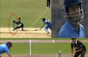 MS Dhoni started and ended his career with a run-out.