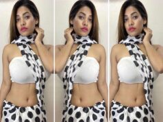 Glancy Rego Smokes up the Internet with Glam look in Polka Dot Saree