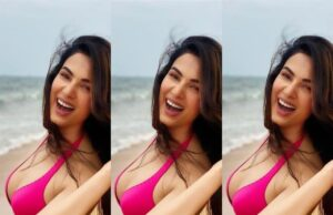 Sonal Chauhan shares Sizzling and Sultry Pics in Pink Bikini