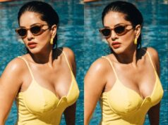 Sunny Leone Turns up The Heat in a Yellow Swimsuit on Monday Morning