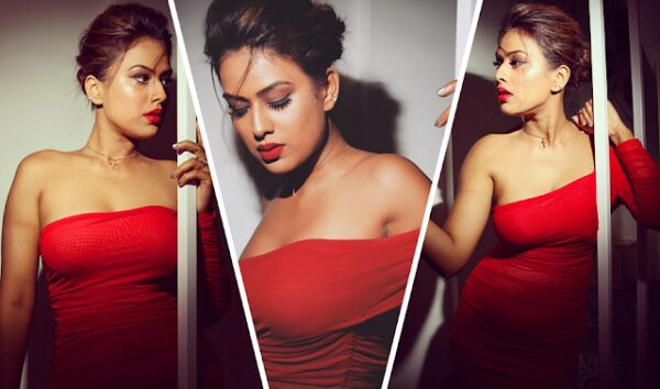 nia sharma looks so hot in red outfit