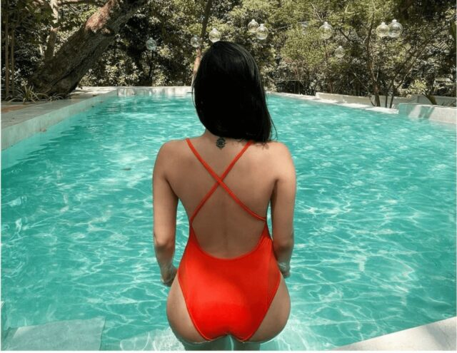 Amyra Dastur Sets Hearts Racing With Her orange monokini