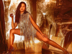 Nora Fatehi sizzles in silver tassel dress with wet hair