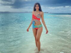 Sakshi Malik Raises the Temperature in Colorful Striped Bikini