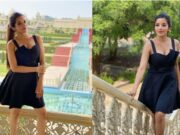 bhojpuri actress monalisa hot and bold photos in short black dress