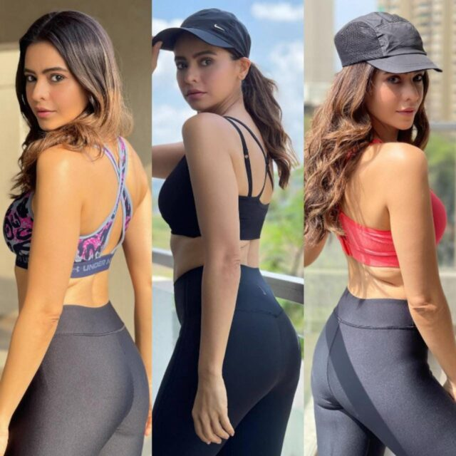Aamna Sharif Flaunting Her Sexy Figure In Gym Outfit